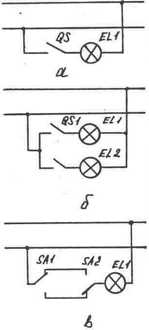 Схемы включения электрических
