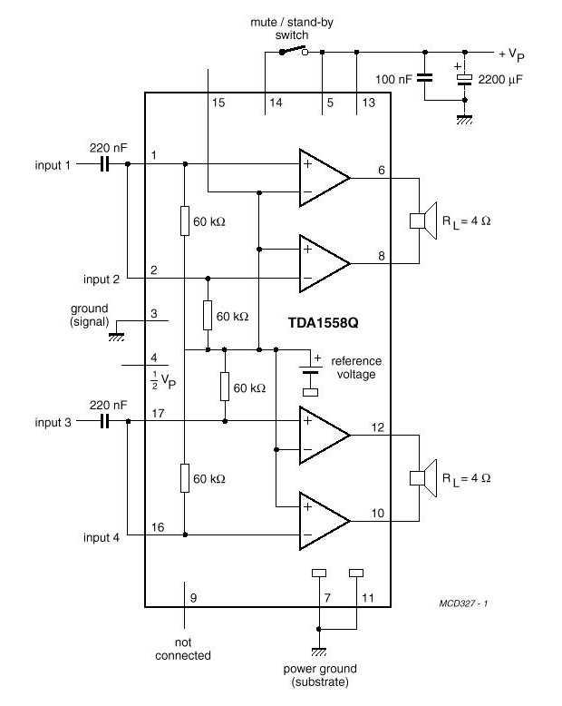 микросхемы TDA1558Q (2х22Вт)